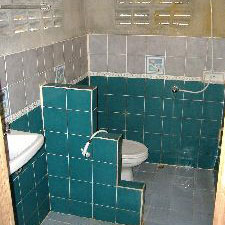 basic, but private shower and toilet are en-suite