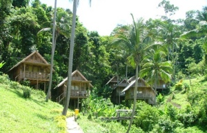 Hill side bungalows on Ko Chang