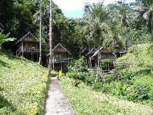 Hillside bungalows on stilts providing the best Sea View