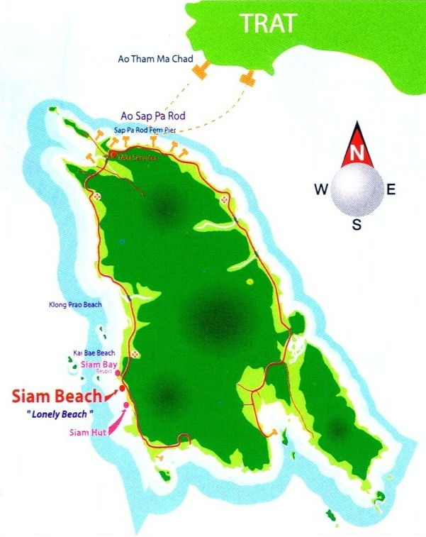 map of koh chang and Trat: Click to enlarge