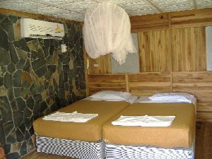 Comfortable Twin Beds, Air Conditioner and a mosquito net